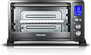 Toshiba-AC25CEW-BS-Digital-Toaster-Oven-with-Convection-cooking