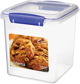 Exceptional Sistema KLIP IT Cookie Tub, 2.35 L   Clear With Blue Clips