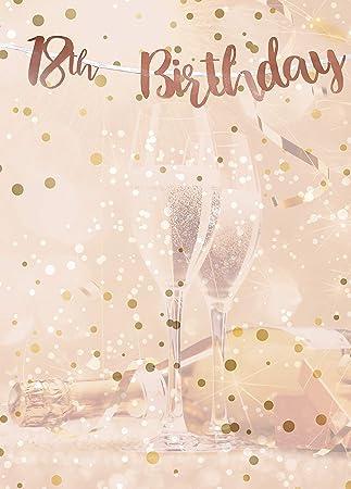 Alandra Cumpleaños BUNT-18 18 cumpleaños Oro Rosa metálico ...