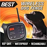 Best Wireless Dog Fence (NEW & IMPROVED 2018 VERSION) - Rechargeable Water Resistant Collar - 2 Acre Wifi Range - Invisible Signal - 100% Wire Free