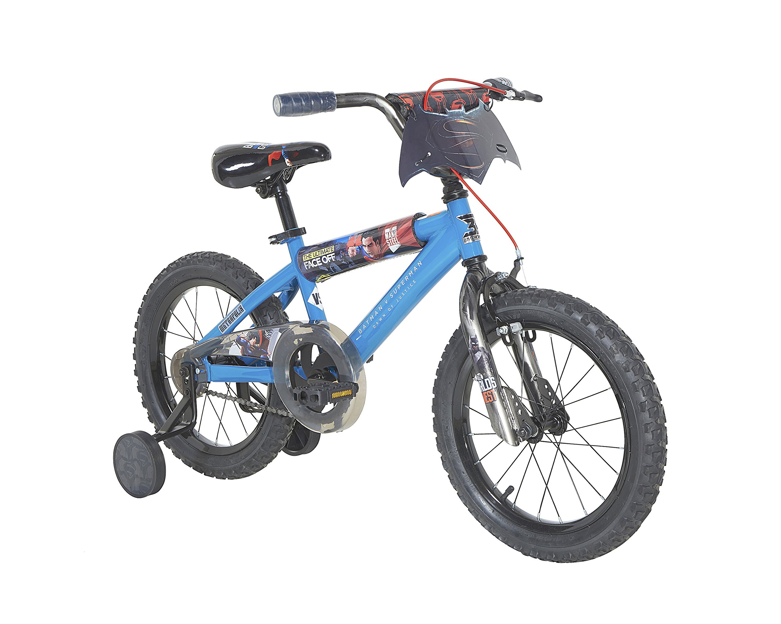 Batman vs Superman Boys Dynacraft Bike, Blue/Black/Red, 16''