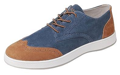 f32baf4bbce2 Aureus Men s Supra Cerulean Blue Ginger Brown Nubuck Leather Low Top Oxford  Shoe Size 9