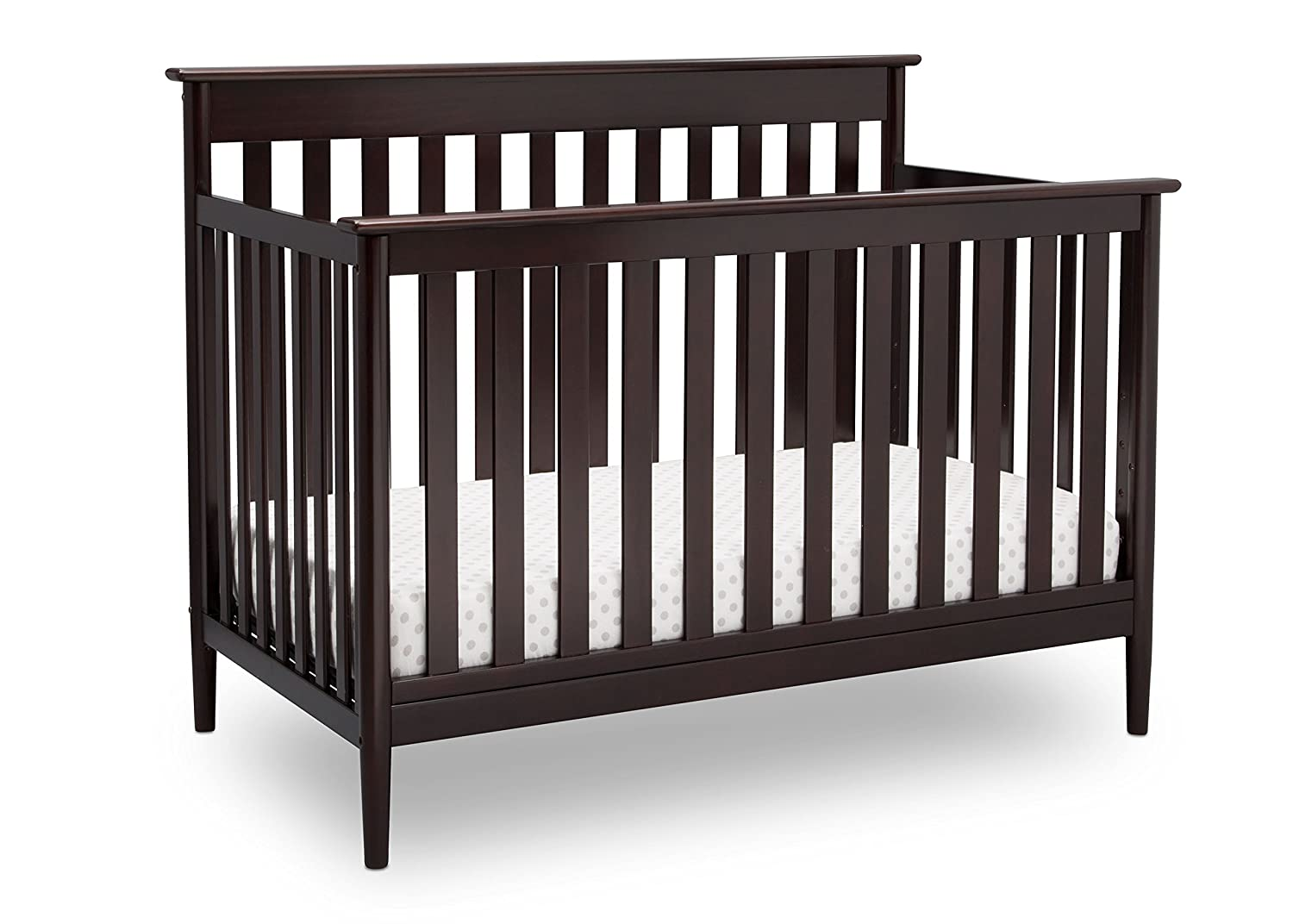 Delta Children Greyson Signature 4-in-1 Convertible Baby Crib, Dark Chocolate