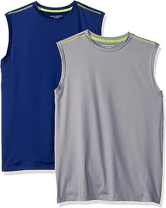 Amazon Essentials Camiseta sin Mangas de Rendimiento Activo Niños, Pack de 2