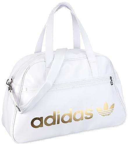 b49440d130 adidas Originals Ac Holdall, Sac de sport femme - Blanc, Cuir ...