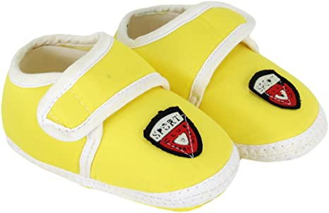 Neska Moda Baby Unisex Sport Yellow Booties/Shoes For 0 To 12 Months Infants-SK187 buy cheap websites find great online M3bd3CkLg