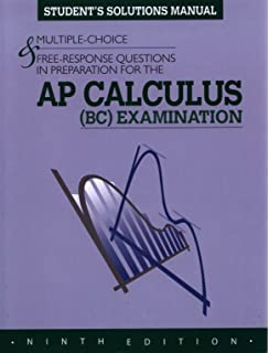 calculus bc examination eight edition solutions