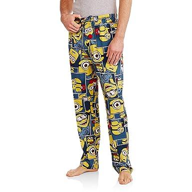 Despicable Me Minion Blocks Knit Graphic Sleep Lounge Pants New