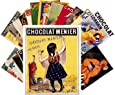 Carte Postale 24pcs Chocolate Vintage Poster Ads Adverts