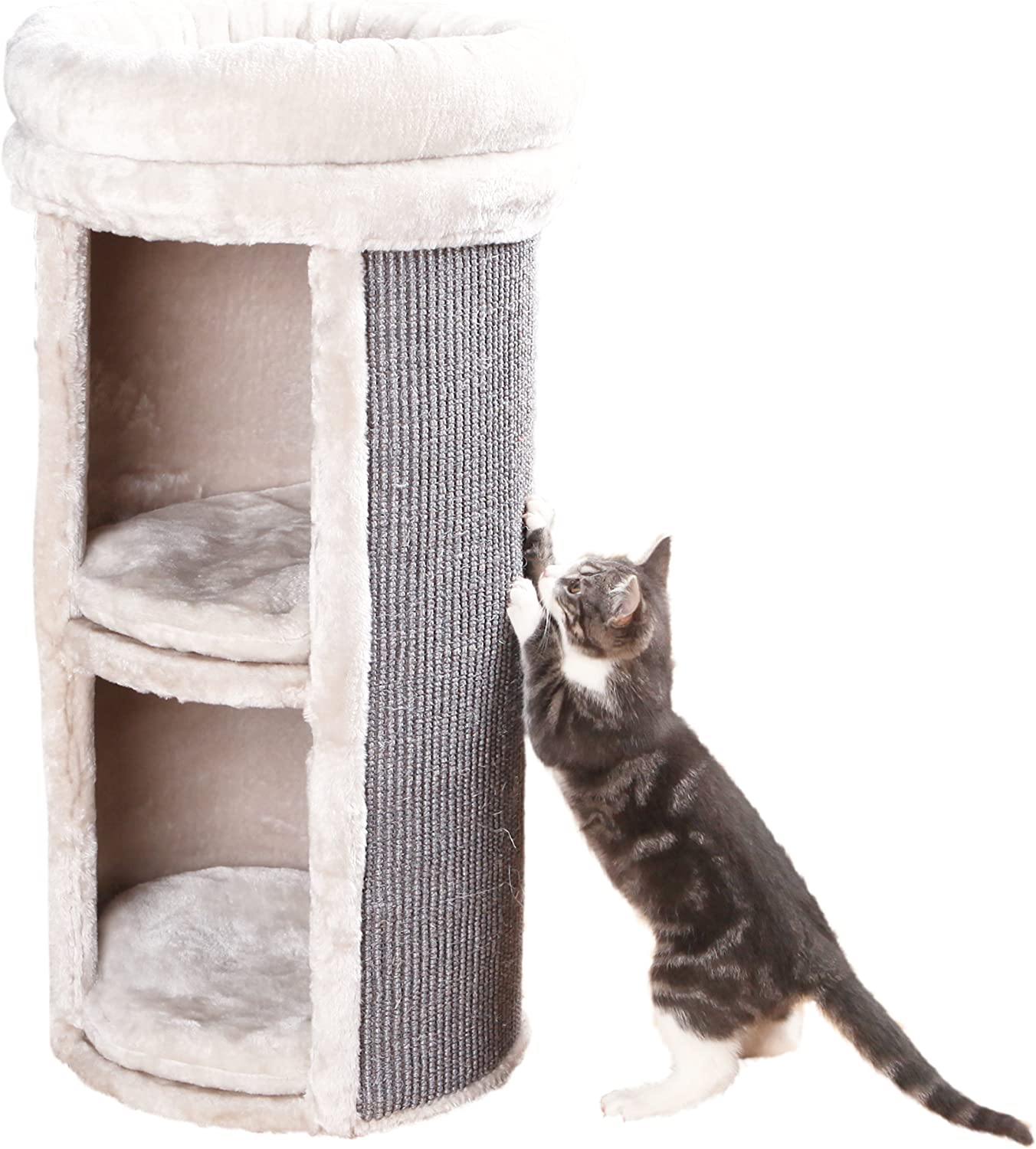 Trixie Pet Products Mexia 2 Story Cat Tower Gray Pet Supplies