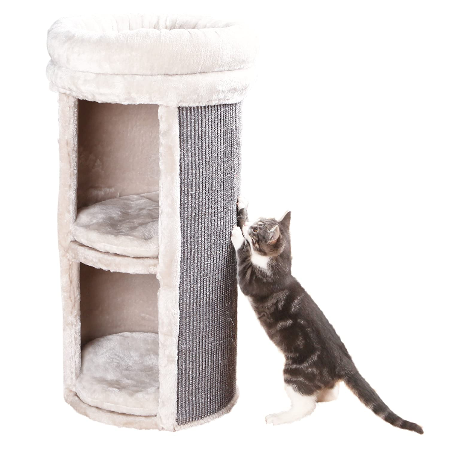 amazoncom trixie pet products mexia 2story cat tower gray pet supplies