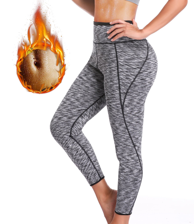 SEXYWG Slimming Pants Hot Sweat Shapers Neoprene Ankle Long High-Waist Leggings SF049-CA