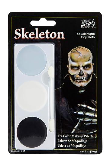 Mehron Makeup Tri,Color Halloween Makeup Palette (Skeleton)