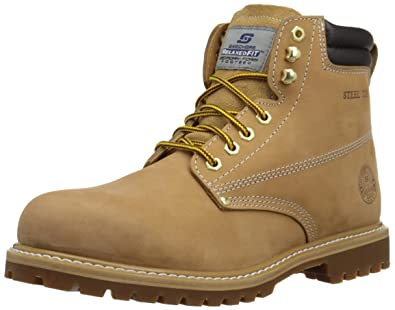 Skechers Work Foreman Concore Boot,Wheat,12 XW US