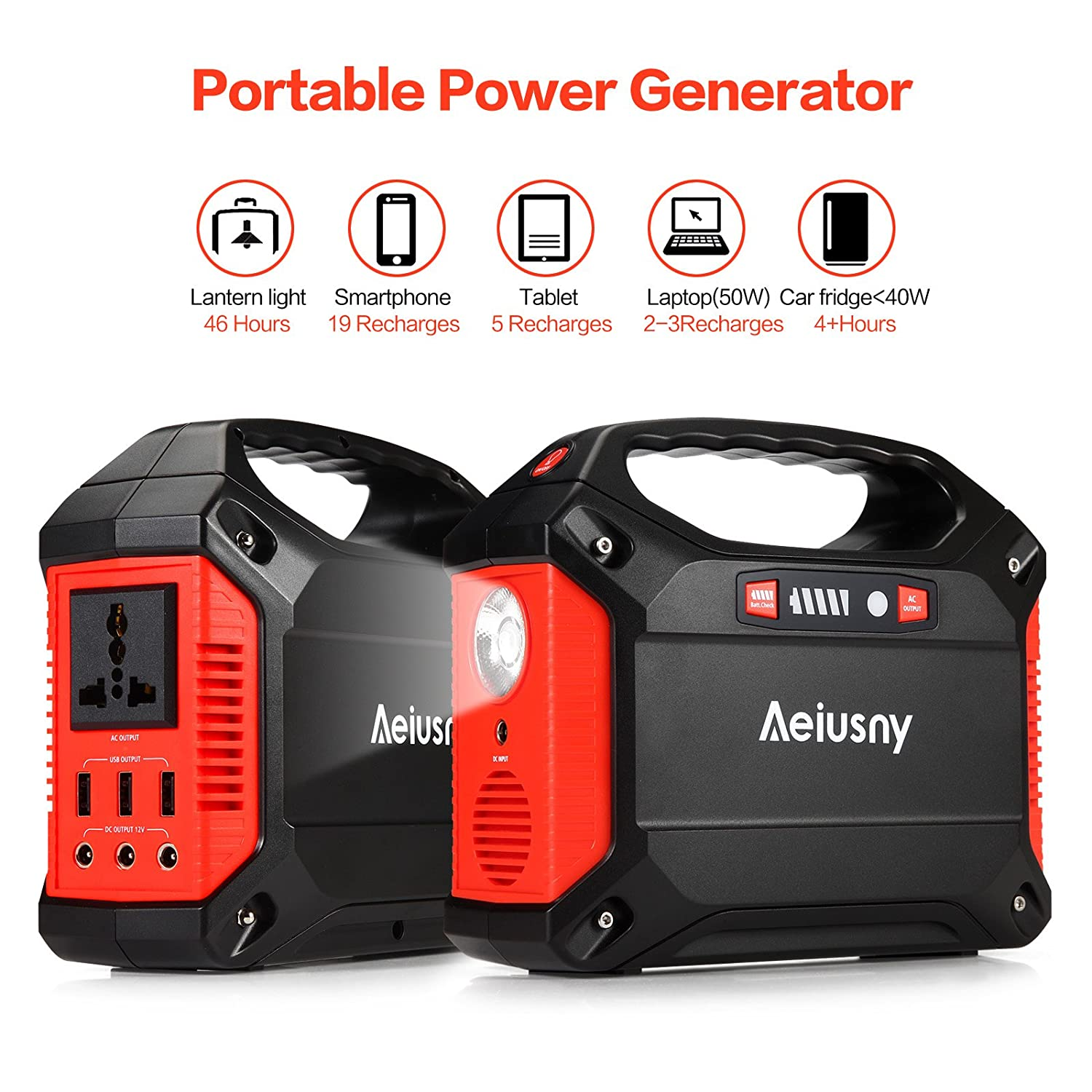 Amazon Aeiusny Portable Generator 155Wh Power Inverter