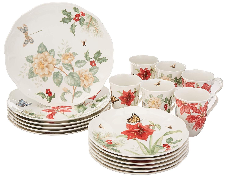 Lenox 880091 Butterfly Meadow 18-Piece Holiday Dinnerware Set