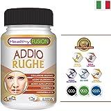 Potente trattamento antirughe | Collagene Idrolizzato + Acido Ialuronico + Coenzima Q10 + Acido Alfa Lipoico + Vitamina C | Pelle sana e idratata | Protegge la salute dei muscoli e articolazioni | 50u