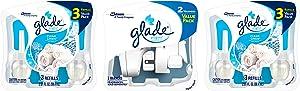 Glade PlugIns Refills Air Freshener Starter Kit, Plug In Air Freshener and Refills, Clean Linen, 8 Piece Set