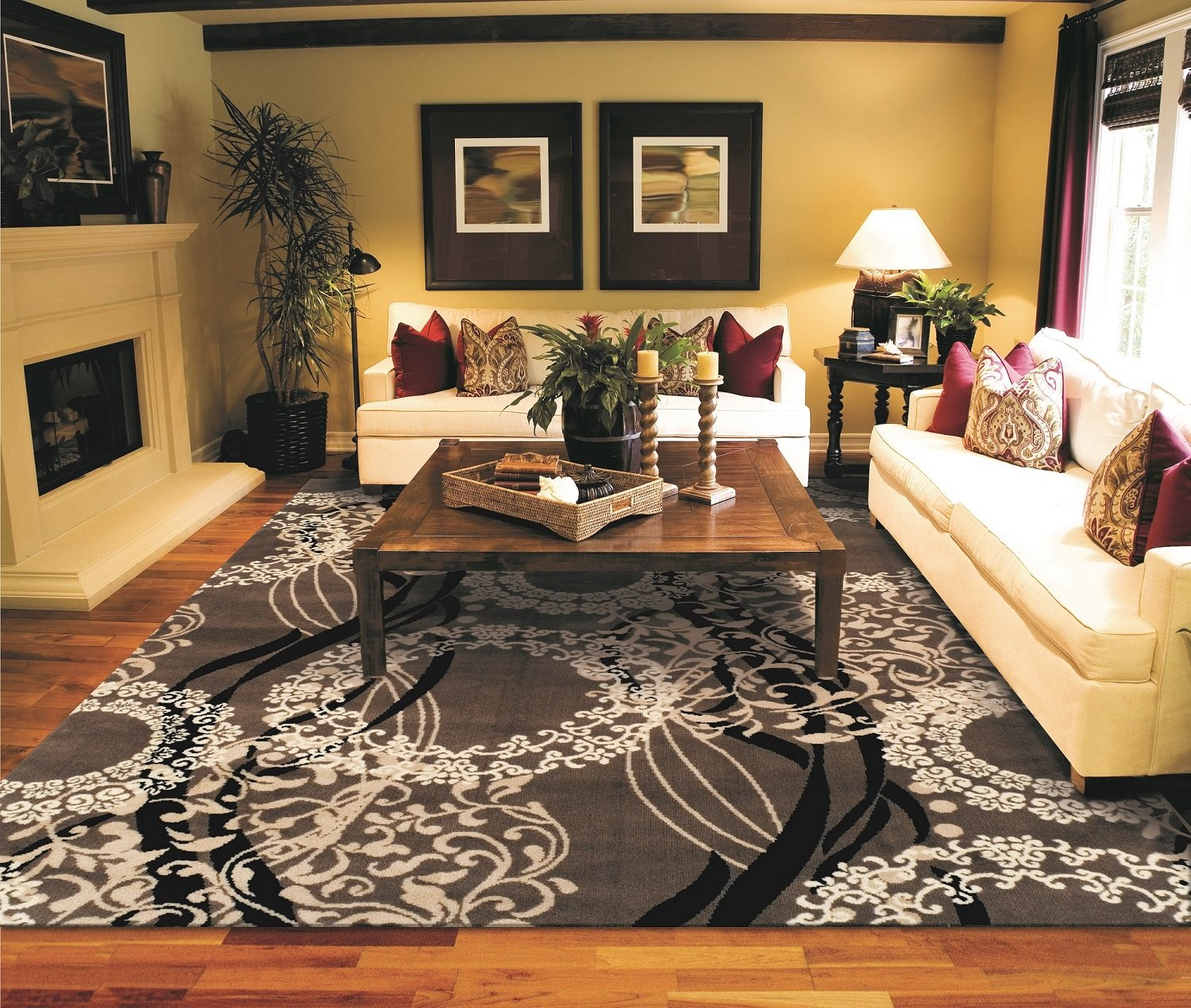 Amazon com as quality rugs modern brown rugs for living room 8x10 clearance kitchen dining