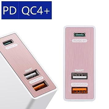 USB C Cargador Power qc4 + qc4.0 3 Puerto de 75 W USB ...