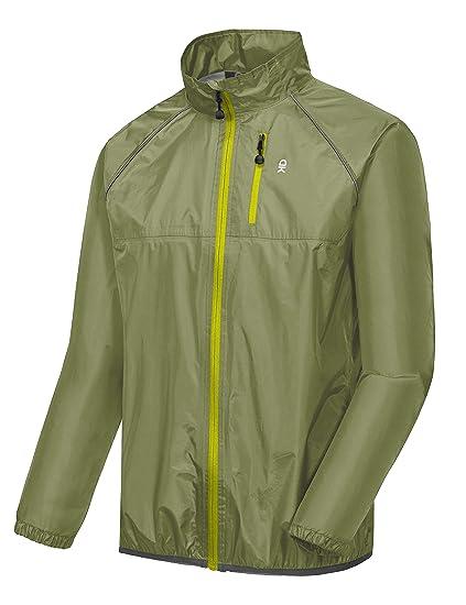 c3b6ea3b3eae Little Donkey Andy Men's Waterproof Cycling Bike Jacket, Running Golf Rain  Jacket, Windbreaker, Ultralight and Packable