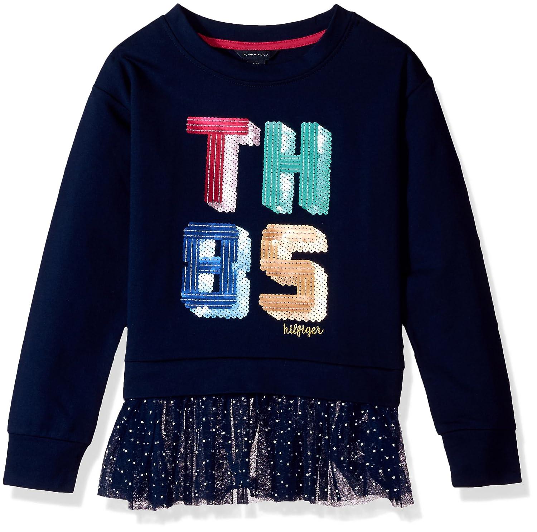 Tommy Hilfiger Big Girls' Th85 Mixed Media Top
