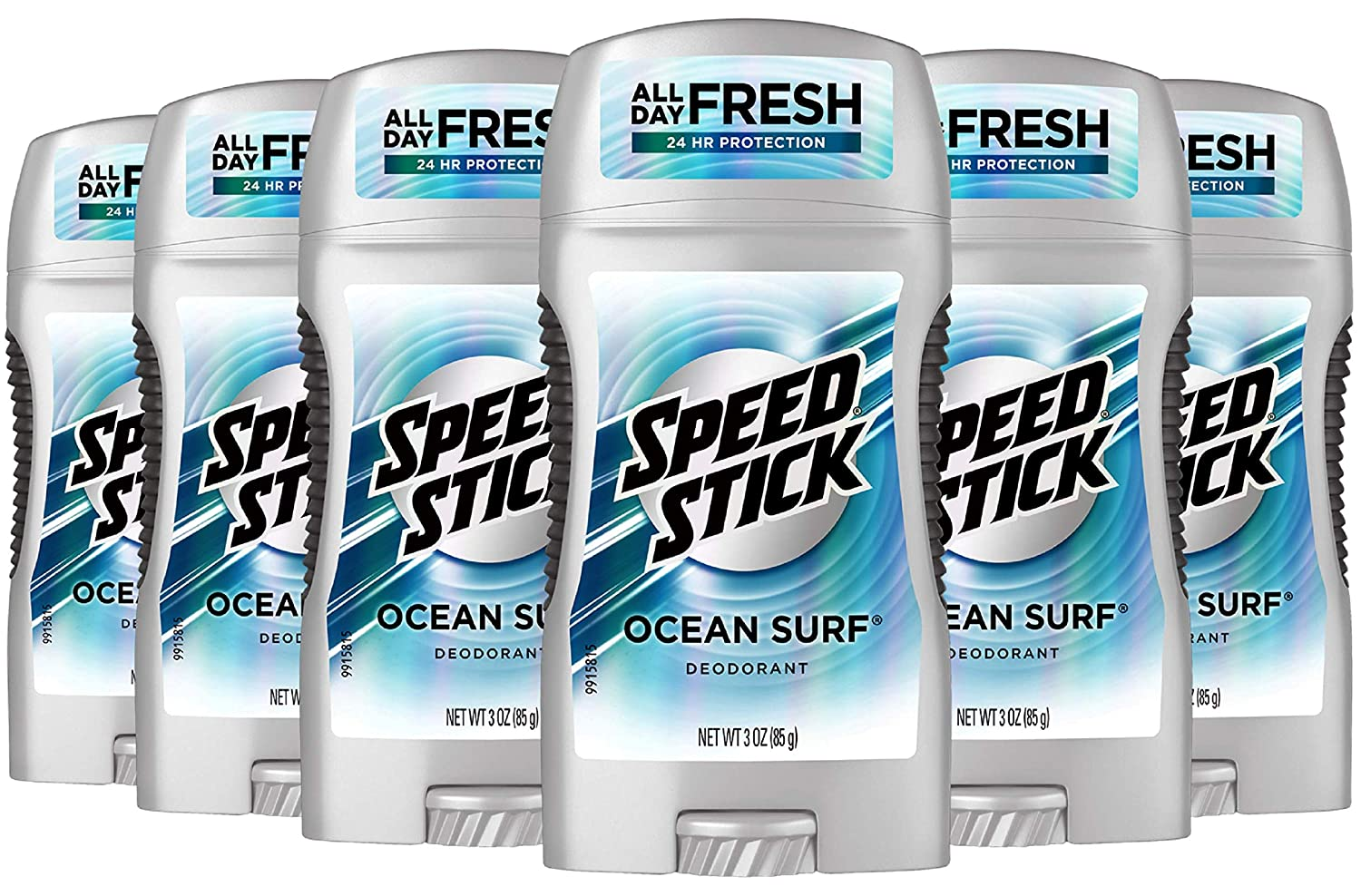 Speed Stick Underarm Deodorant for Men, Aluminum Free, Ocean Surf - 3 Ounce (6 Pack) : Beauty