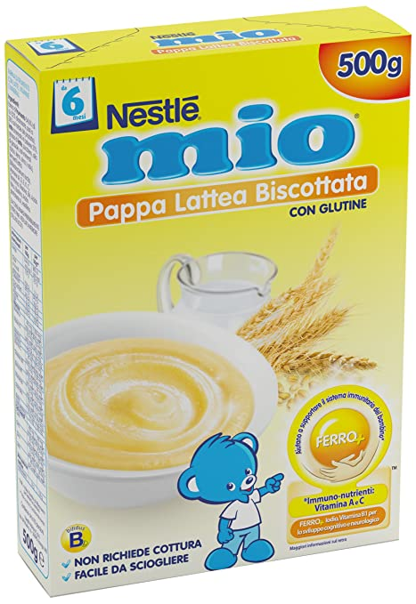 7 opinioni per Nestlé Mio Pappa Lattea Biscottata da 6 Mesi, 500g