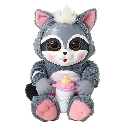 Amazon Com Animal Babies Deluxe Raccoon Plush Toys Games