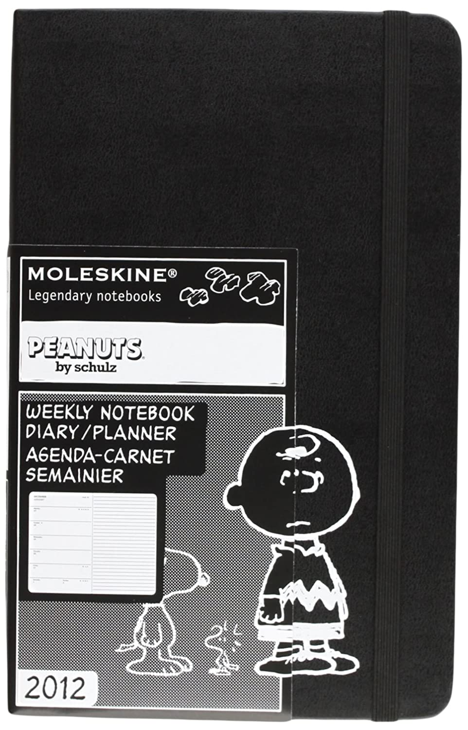 Moleskine 2012 12 Month Weekly Notebook Planner Peanuts Limited Edition Large