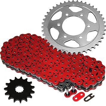 Caltric Red O-Ring Drive Chain /& Sprockets Kit Fits KAWASAKI ZX7R ZX-7R Ninja ZX750-P 1996-2003