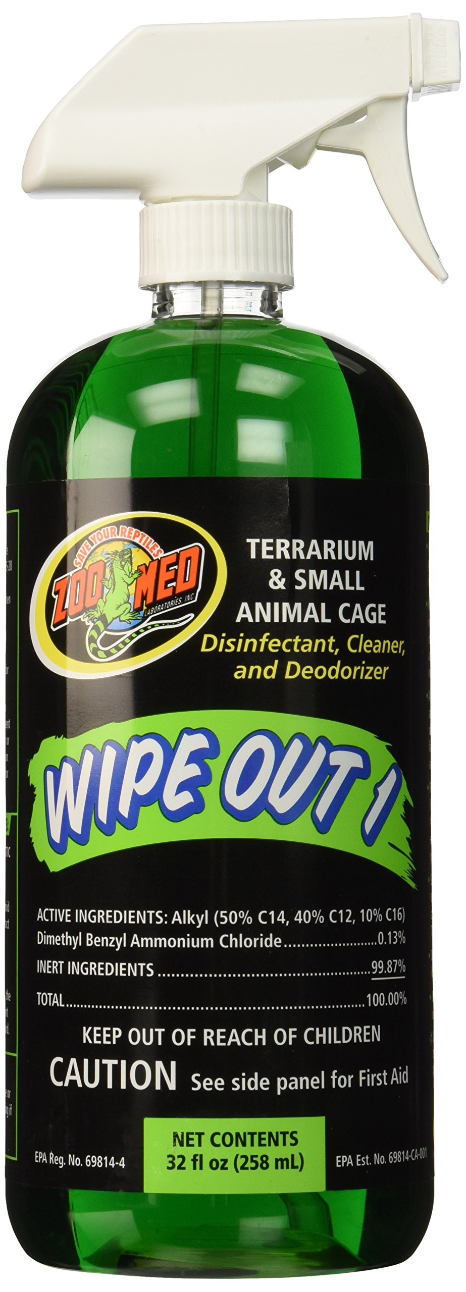 Zoo Med Wipe Out 1 Disinfectant, 32 oz by Zoo Med
