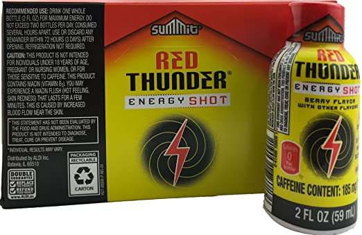 Amazon.com: Summit Red Thunder Sugar Free Berry Energy Shot 12-count Case: Health & Personal Care