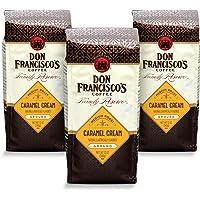 Don Francisco's Caramel Cream Flavored, Ground Coffee, 100% Arabica , (3 x 12 Ounce Bags)