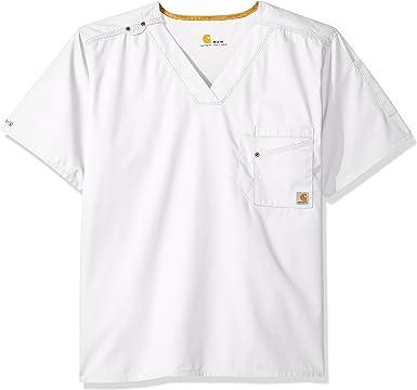 Choose SZ//Color Carhartt Rockwall Big Men/'s V-Neck Scrub Top
