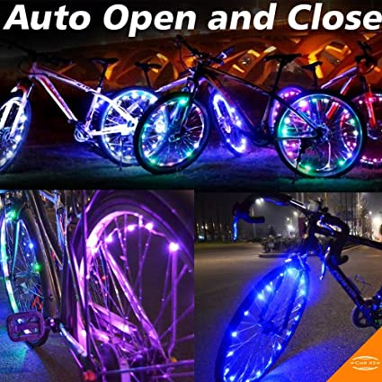 Bicicleta rueda luz, impermeable Auto Abrir y cerrar luz LED bicicleta neumático accesorios cadena luces