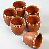 Handmade Terracotta Tea Cups - set of 6