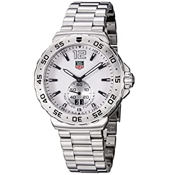 Tag Heuer Men S Wau1113 Ba0858 Formula 1 White Dial Stainless Steel Watch