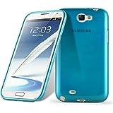 Cadorabo - Custodia silicone TPU Samsung Galaxy NOTE 2 (N7100) Design: METALLO SPAZZOLATO brushed - Case Cover Involucro Bumper Astuccio in TURCHESE