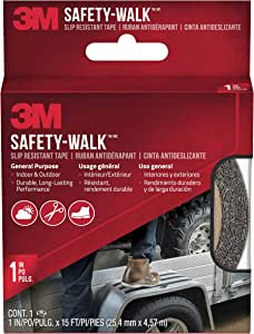 3M Safety-Walk Indoor/Outdoor Tread, Black, 1-Inch by 180-Inch Roll, 7634NA
