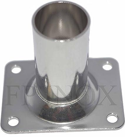 Embase Platine Ronde 25mm Droite 90° inox 316