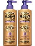 L' oréal Paris elsève Low Shampoo Nutrizione capelli ricci, Afro, molto secchi 400ml–Set di 2