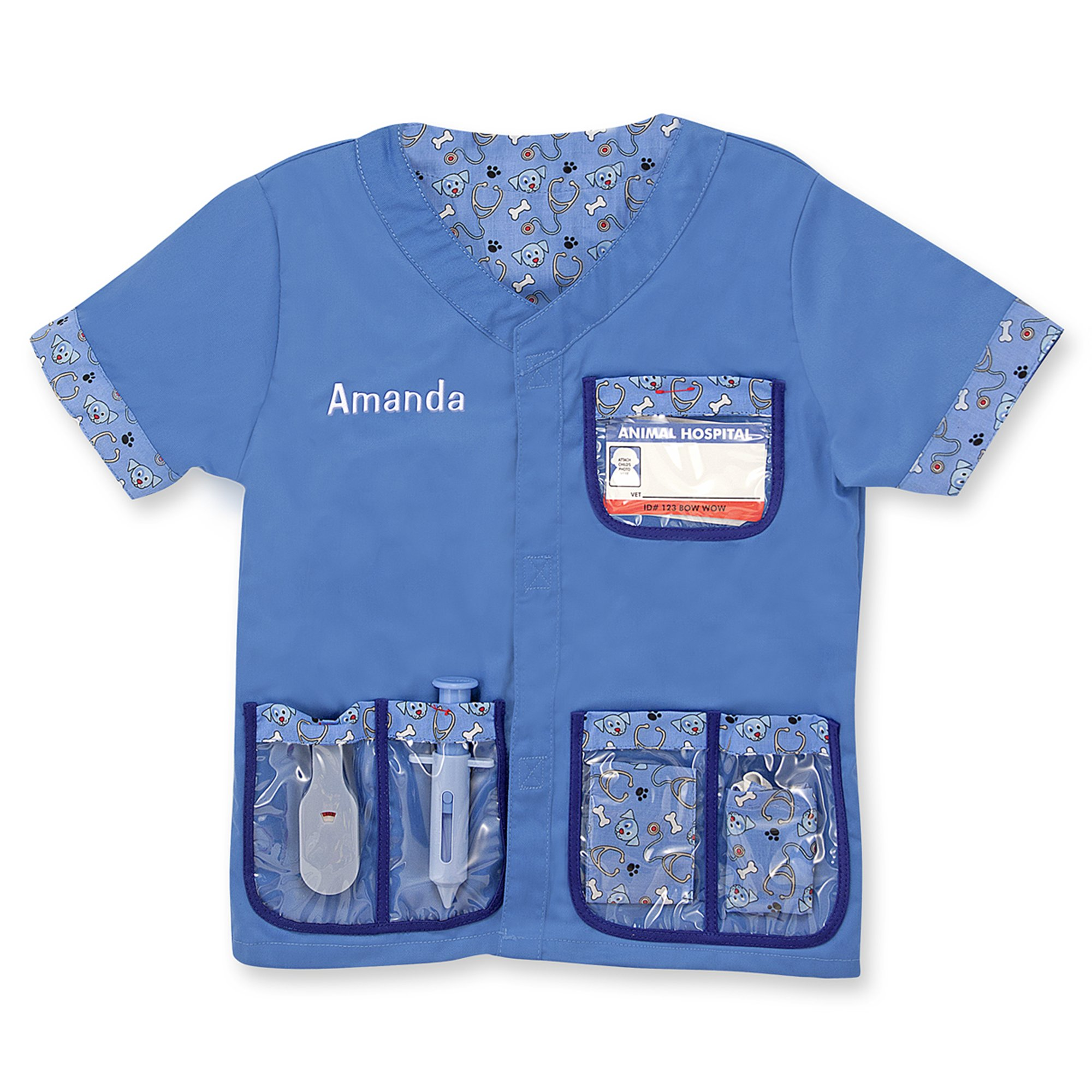 Melissa & Doug Personalized Veterinarian Role Play Costume Dress Up Set (9 Pieces) by Melissa & Doug