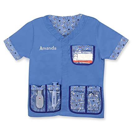Melissa Doug Personalized Veterinarian Role Play Costume Dress Up Set 9 Pieces