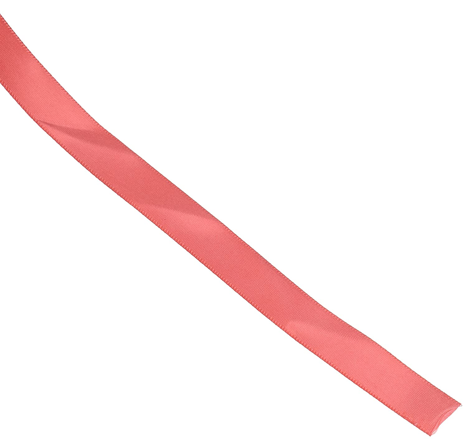 3//8 by 100 yd Creative Ideas PSF0308-212 Solid Satin Ribbon Coral