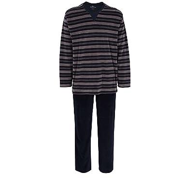 aus Baumwolle Pyjama lang GÖTZBURG Herren Nachtwäsche zweiteiliger Schlafanzug