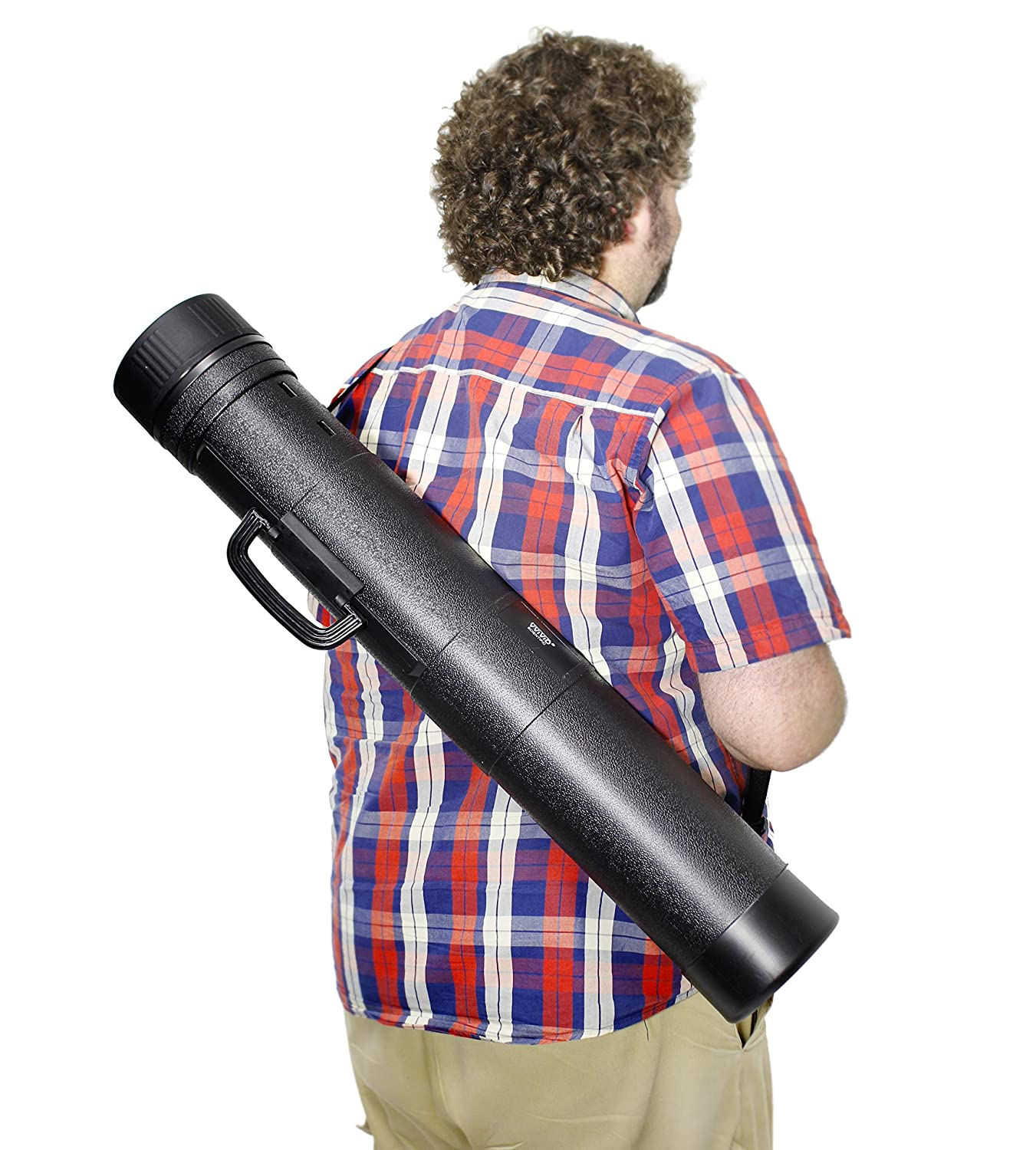 Artwork and Document Carrying Tube VViViD Heavy-Duty Black Plastic 31-49 Inch Length Telescoping Poster
