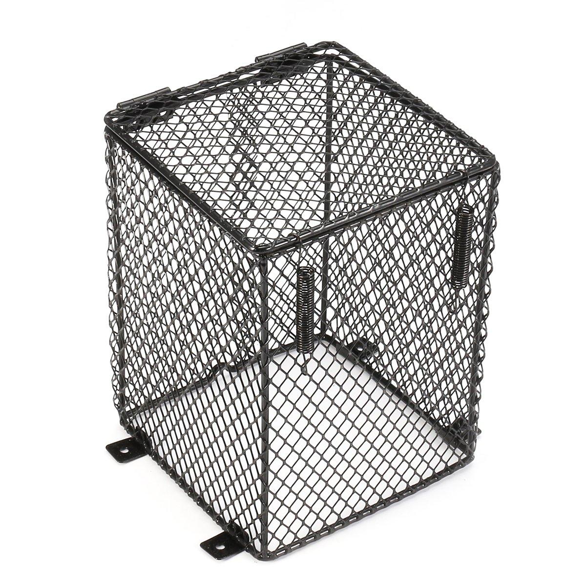 QOJA reptile basking lamp guard mesh cage light bulb protector