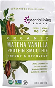 Matcha Vanilla Protein Smoothie - Essential Living Foods - 6oz Pouch