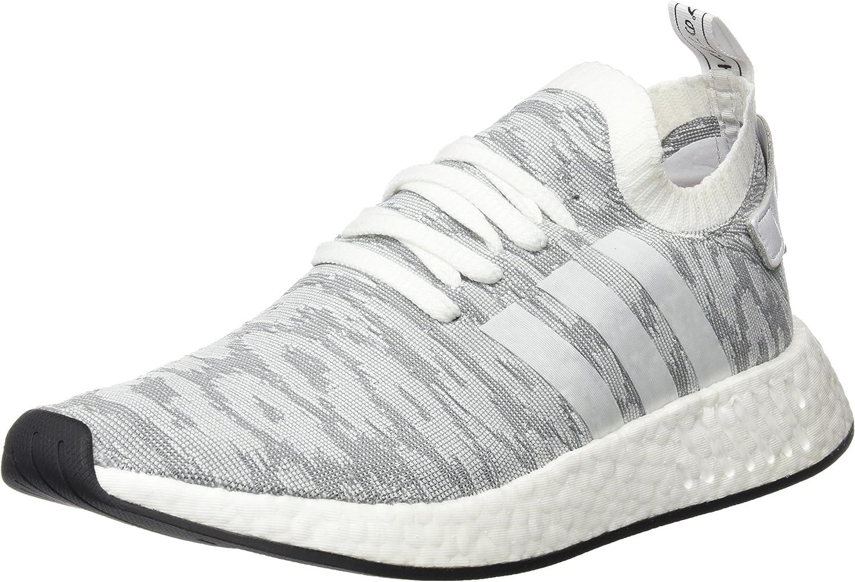 Adidas Mens Nmd R2 Primeknit Medium Grey White Textile Trainers 11 Us Amazon Ca Shoes Handbags